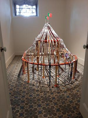 chão hidráulico e obra de arte