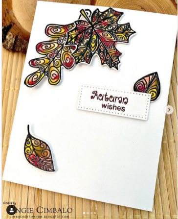 Autumn wishes by Angie Cimbalo feature Beautiful Leaves by Newton's Nook Designs; #newtonsnook