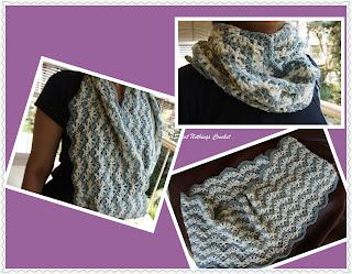 free crochet cowl pattern, free crochet chevron cowl pattern