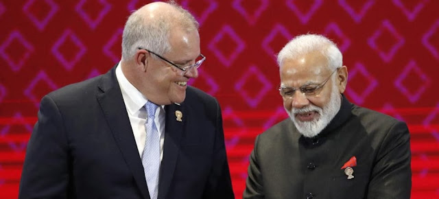 India and Australia's first virtual summit