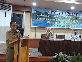 Plt Kabid Bikondal PUPR Provinsi Jambi Buka Secara Resmi Pembekalan Teknis Dan Administrasi Pengawas Jalan Dan Pengawas Irigasi