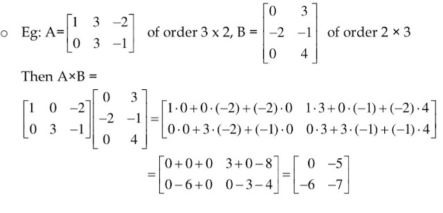12 class Maths Notes Chapter 3 MATRICES free PDF| Quick revision Notes class 12 maths