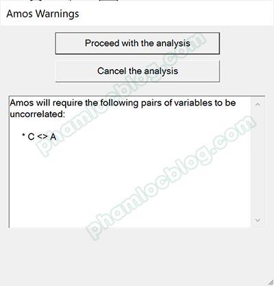 Mũi tên hai chiều covariance trong AMOS