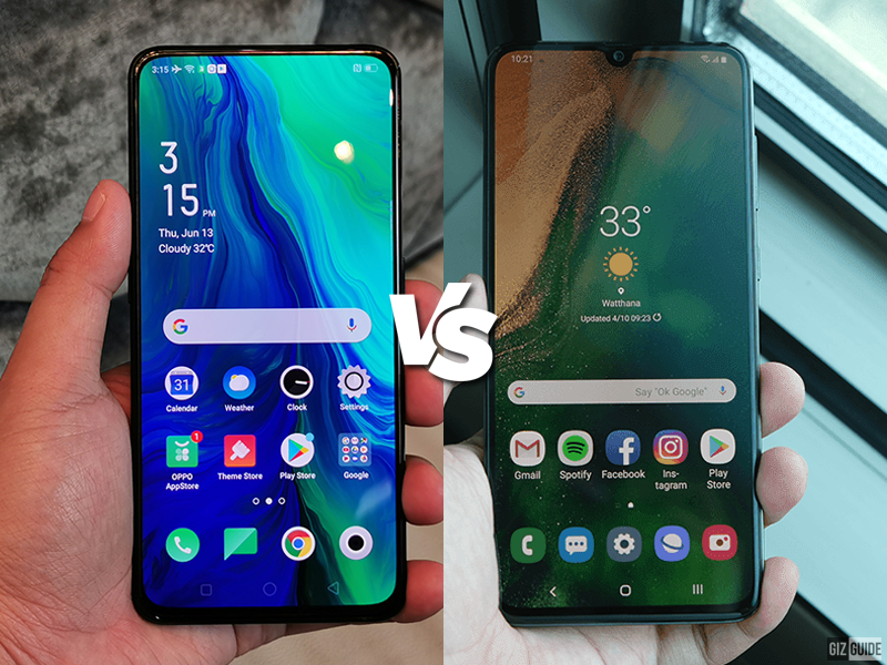 OPPO Reno vs Samsung Galaxy A70 Specs Comparison
