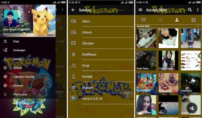 Download BBM Mod Pokemon Apk v3.0.0.18 (Not Clone)