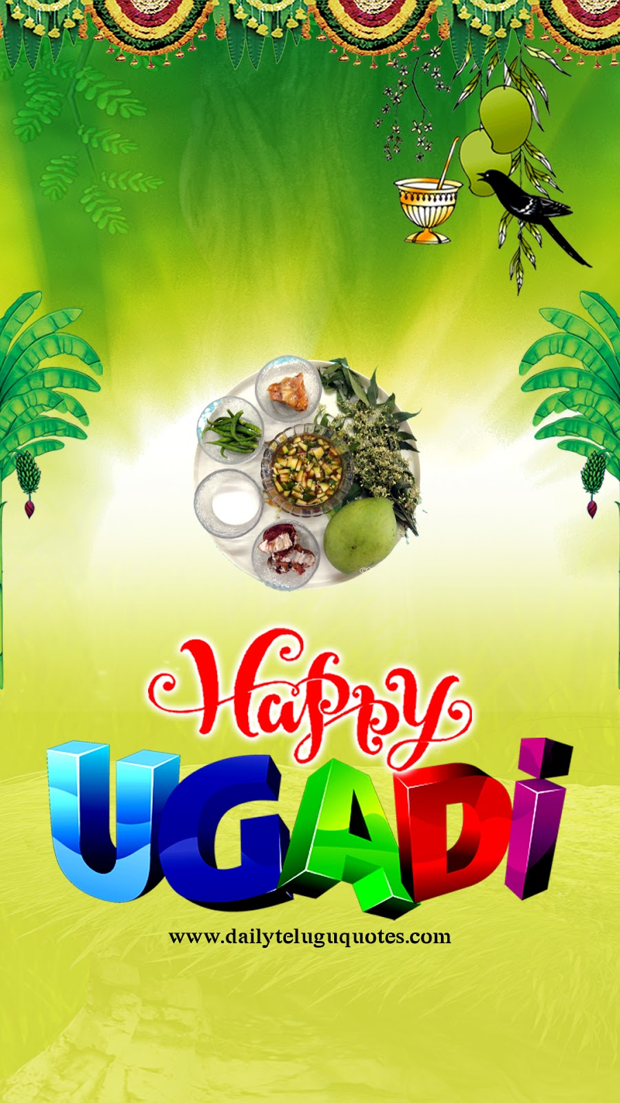 Hapy Ugadi HD Mobile Wallpaper Quotes Wishes Greetings