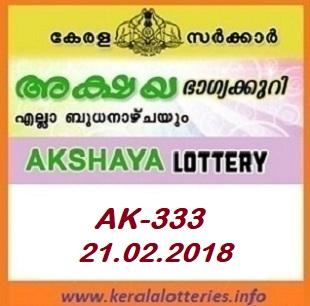 AKSHAYA (AK-333) LOTTERY RESULT