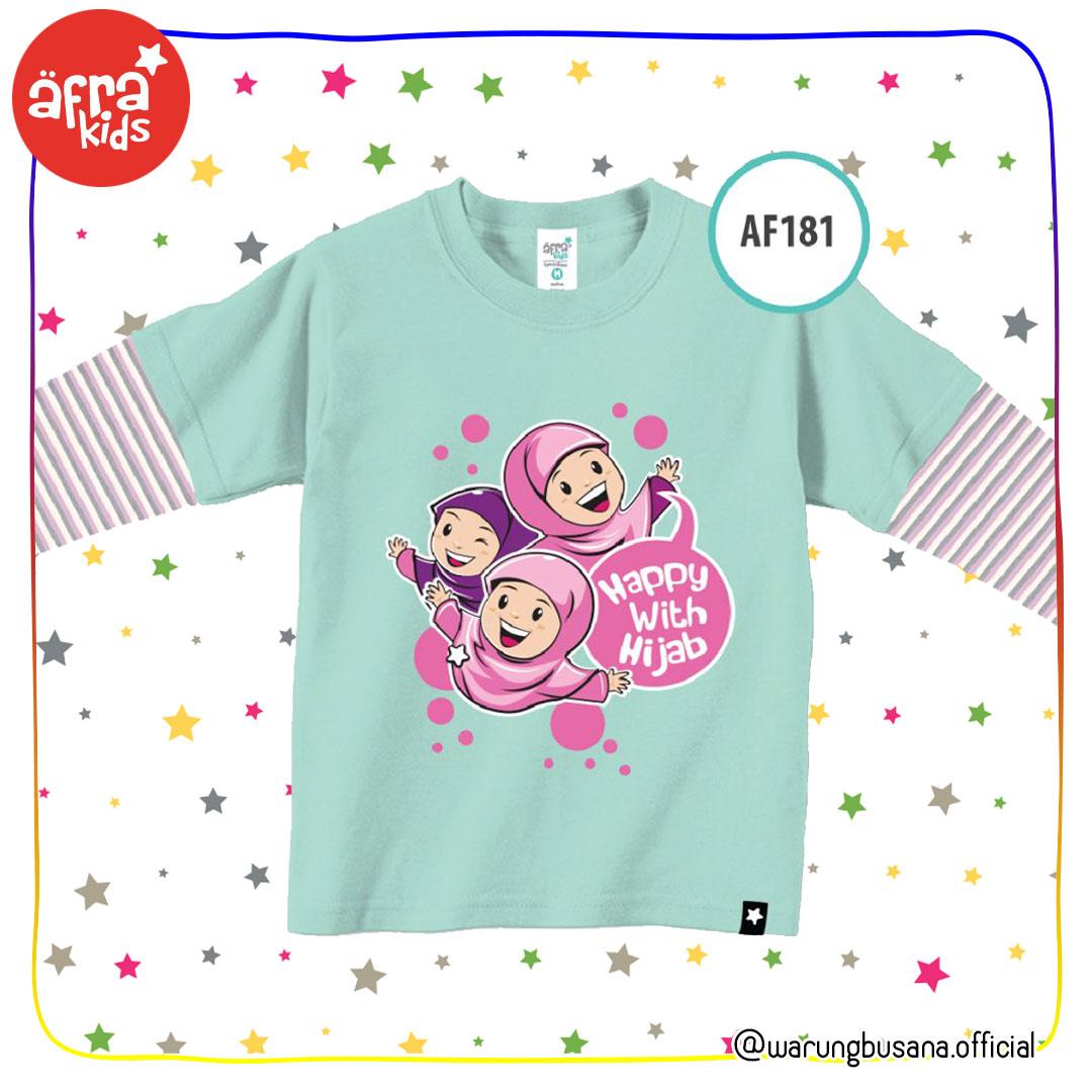 Afrakids Kaos Anak AF181 Happy With Hijab