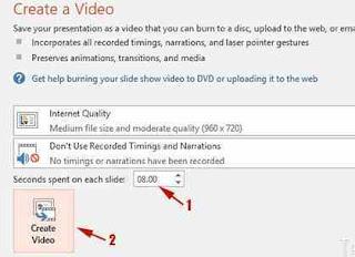 mengkonversi presentasi PowerPoint ke Video