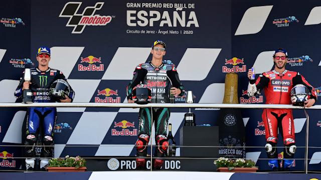 MUNDIAL MOTO GP 2020 - Quartararo inicia el Mundial con victoria y Márquez con caída