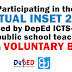 DepEd emphasized that joining the VIRTUAL INSET 2021 for teachers is on a VOLUNTARY BASIS