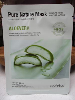 Prírodná pleťová maska Secriss - Aloe vera