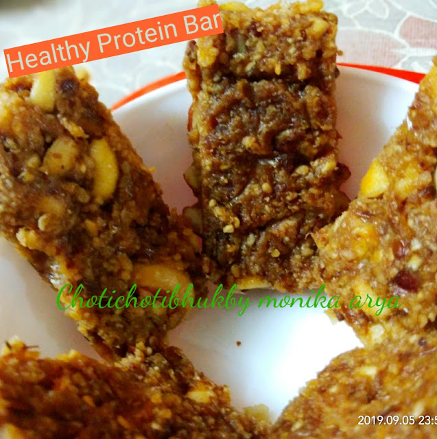 Healthy Protein Bar made up of super food oats without sugar or jaggery