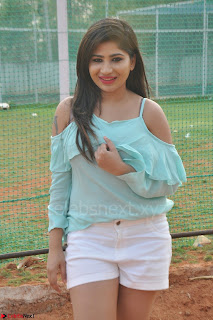 Madhulagna Das looks super cute in White Shorts and Transparent Top 72.JPG