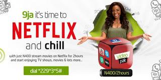 Etisalat Brings Netflix Package N400 For 2 hours Plan To Stream Online price in nigeria