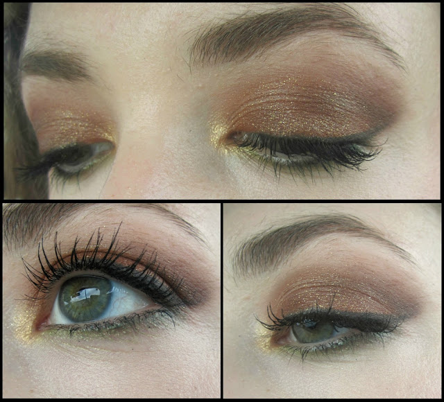 FOTD: Autumn Leaves | Glittery Warm Brown Smokey Eye & Neutral Lips