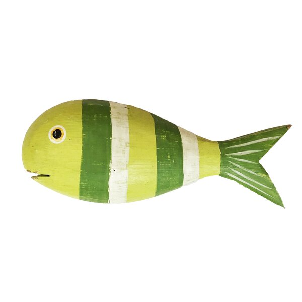 Fish Wooden Wall Décor in Green