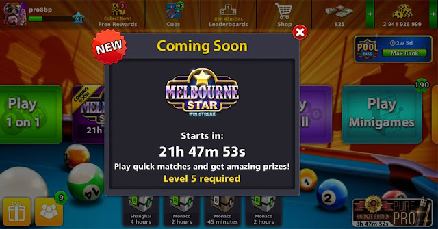 8 ball pool Free Cue And Ring
