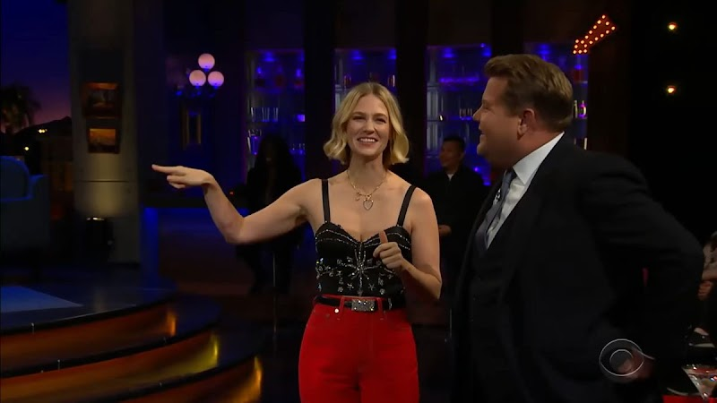 January Jones Clicks at Late Show with James Corden 16 Jan-2020
