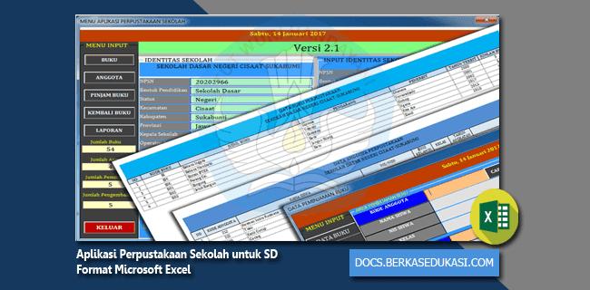 Aplikasi Perpustakaan Sekolah untuk SD Format Microsoft Excel