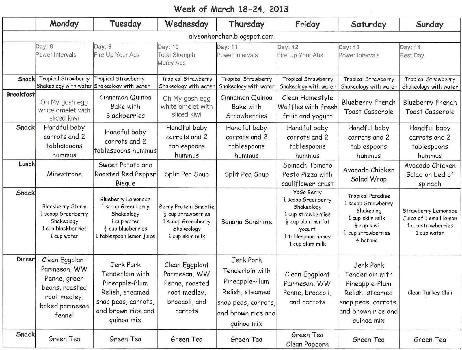 Meal Planning Worksheet Teens