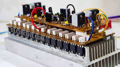 Stereo Yiroshi power amplifier high power amp circuit