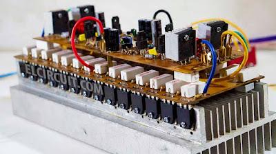 Stereo Yiroshi power amplifier high power amp circuit