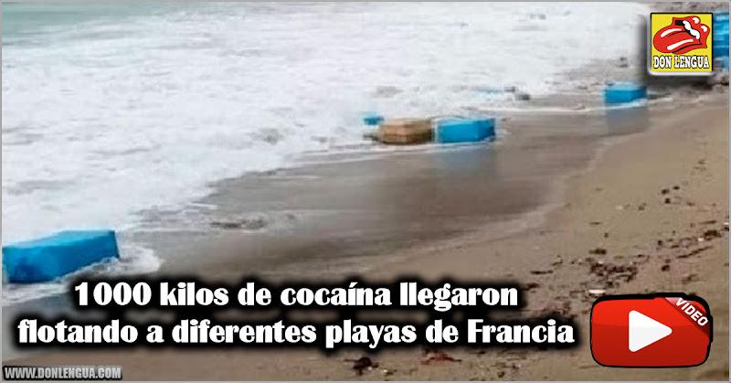 1000 kilos de cocaína llegaron flotando a diferentes playas de Francia