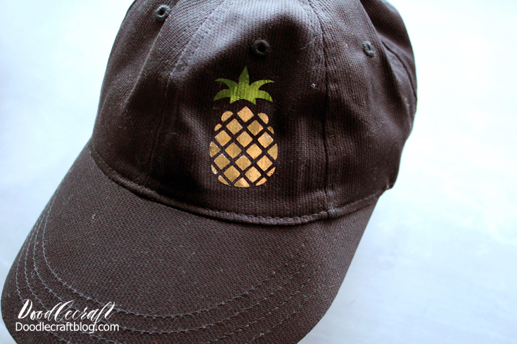 Pineapple Dad Hat Iron On Vinyl Cricut Explore Air 2