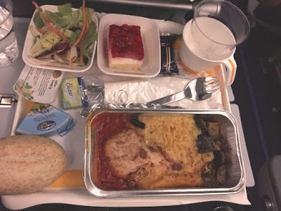 comida avião boa
