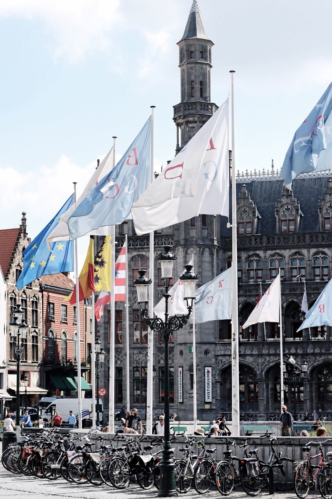 Flags Flying in Belgium The Square