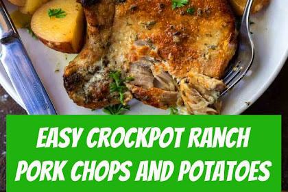 Easy Crockpot Ranch Pork Chops and Potatoes #crockpot #crockpotdinner #easydinner