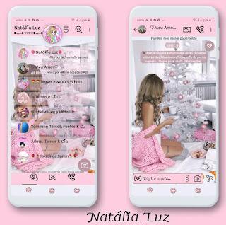 Girls & Christmas Theme For YOWhatsApp & Fouad WhatsApp By Natalia luz