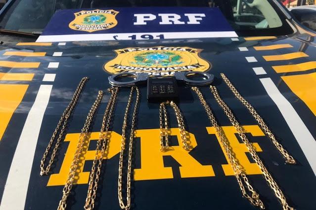 Três homens são detidos por estelionato em RO suspeitos de venderem cordões de 'ouro' falsos