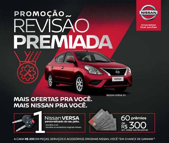 """Campanha """"Revisão Premiada Nissan"""" sorteará um Nissan Versa 0 km e 60 vales-combustível Preview-928x522"""