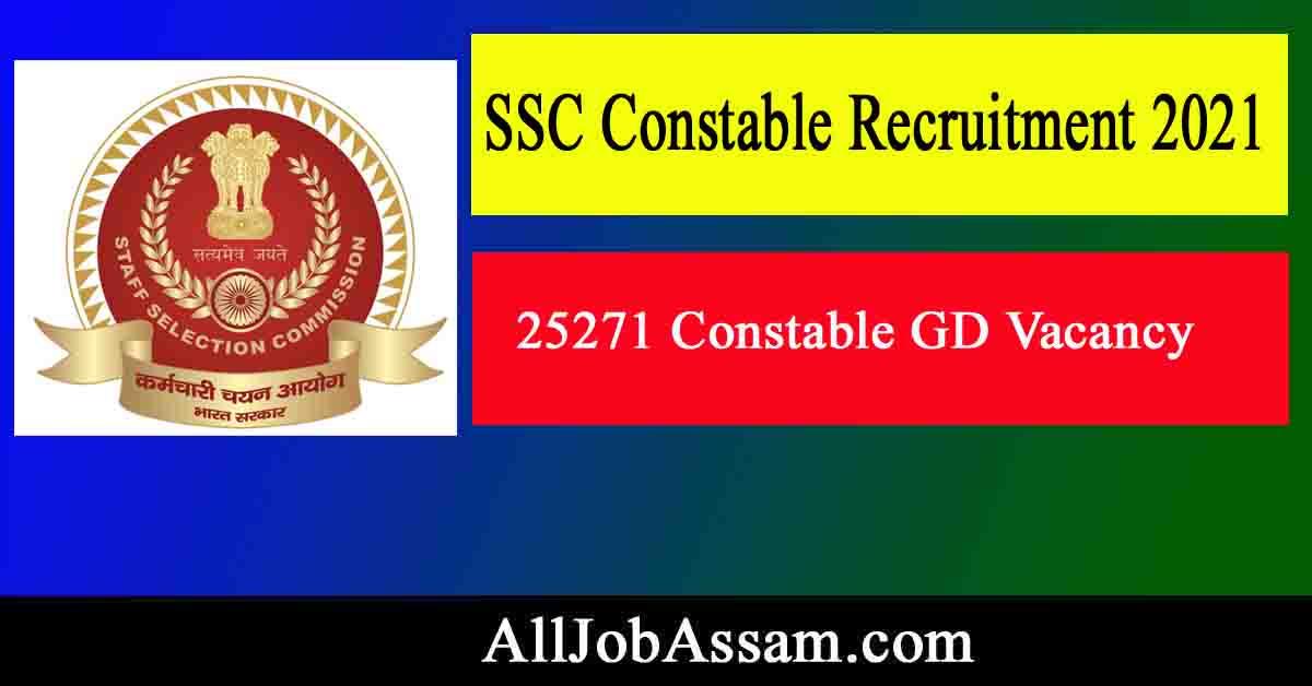 SSC Constable Jobs 2021