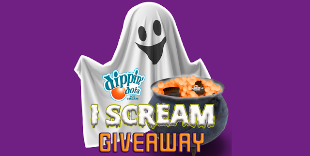 "Dippin' Dots wants you to scream, ""HOORAY"" this Halloween! They're giving away free delivery of Dippin' Dots Ice Cream to thirteen LUCKY winners!"