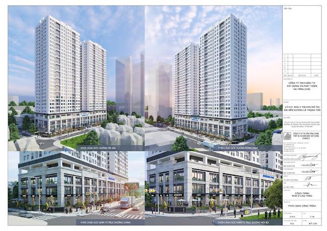 Phối cảnh tổng thể dự án ICID Complex Lê Trọng Tấn