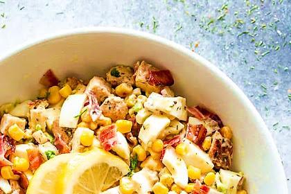 Avocado Chicken Egg Salad With Lemon Dressing