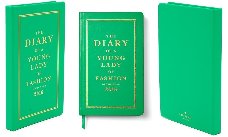 Agendas Planners and Diaries for 2016, Kate Spade, Diary of a young lady of fashion, 2016 diary