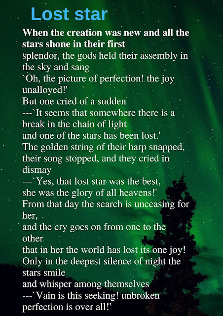 Rabindranath Tagore poem lost star