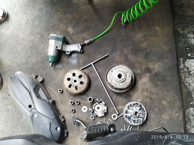 Service CVT untuk motor matic