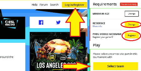 How to Register in the Electronic Sports League(ESL) Mobile Open in 5 steps