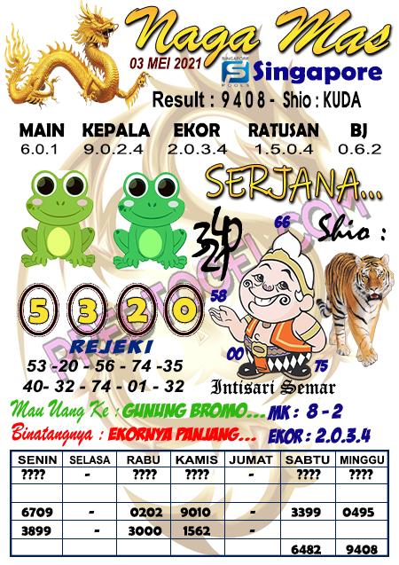 Syair Sgp45 Nagamas senin 03 mei 2021