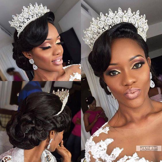 Ideias De Penteados E Beleza Para Noivas Negras Noiva Com