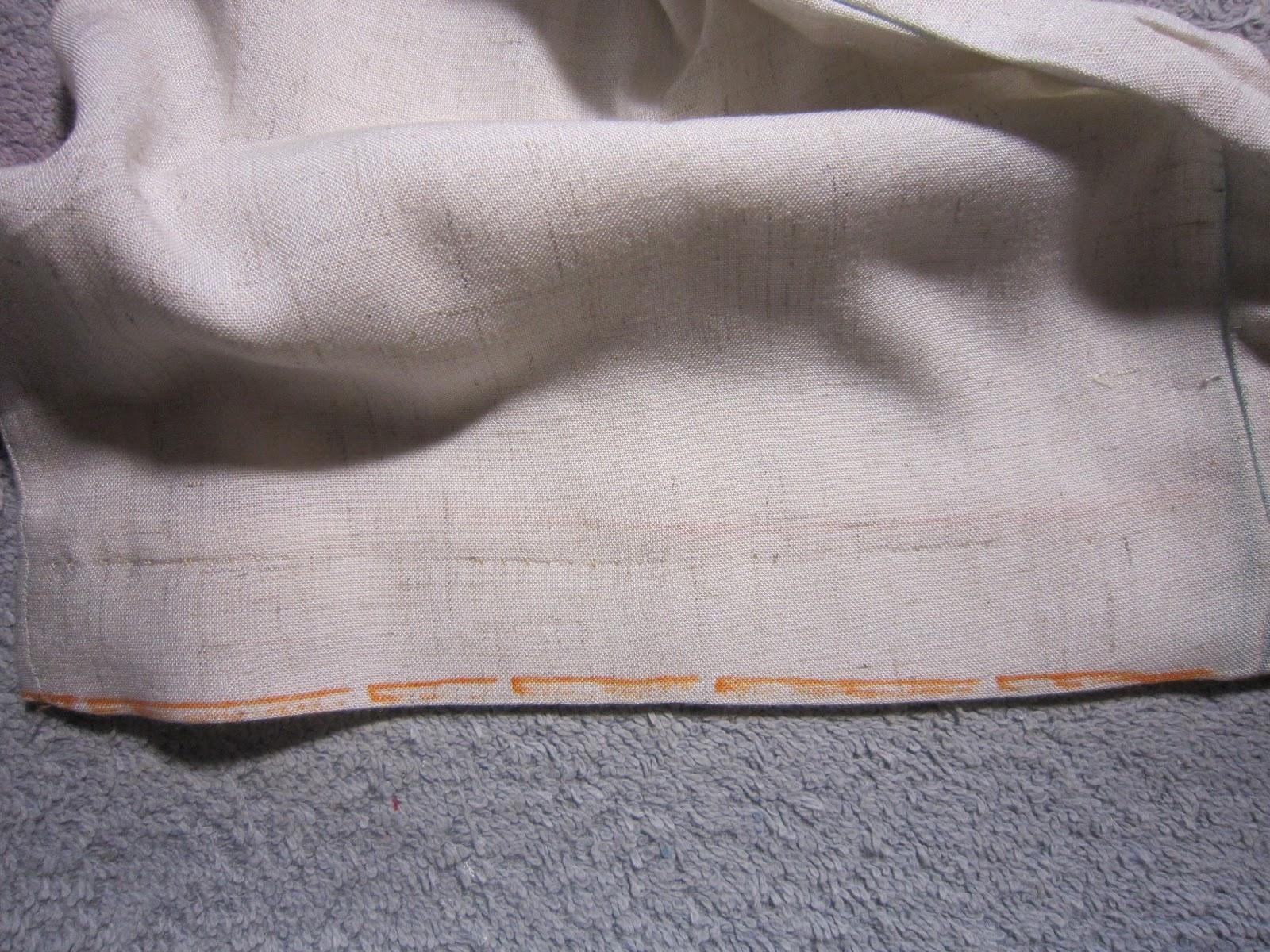 Couture invisible rideau - Faire un ourlet de rideau a la main ...