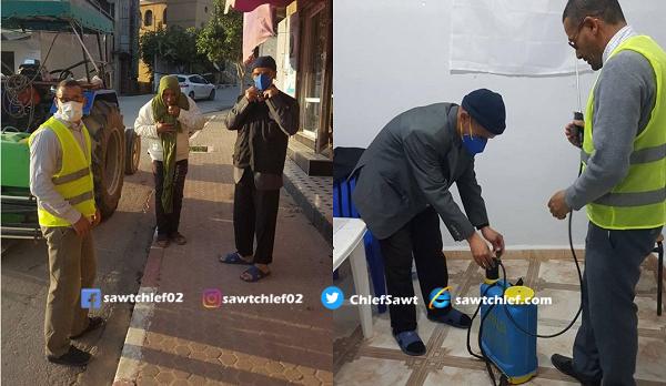 المنظمة الجزائرية للبيئة و المواطنة بالشلف في الموعد لمجابهة كورونا