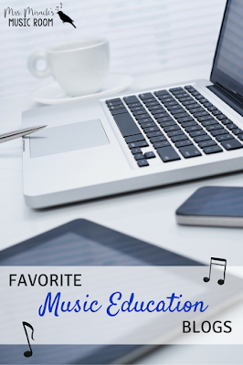 Favorite music education blogs: Great list for any music teacher to read to gather ideas for your classroom!
