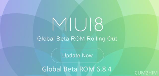 Download ROM MIUI 8 global Beta 6.8.4 untuk perangkat Xiaomi