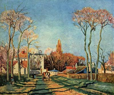 Pissaro . Entrée du village de Voisins,1872.